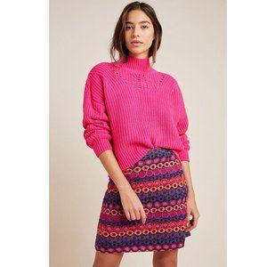 Anthropologie Hutch Ellen Embroidered Mini Skirt 4